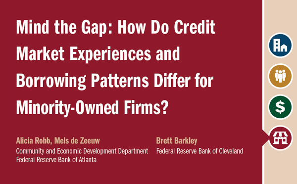 Report cover of Mind the Gap: How Do Credit Market Experiences and Borrowing Patterns Differ for Minority-Owned Firms?