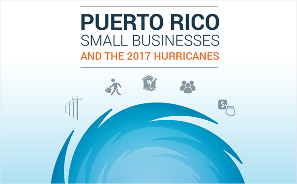 Report cover of Puerto Rico Small Businesses and the 2017 Hurricanes