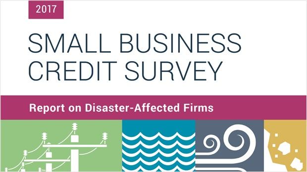 Cover of the Report on Disaster-Affected Firms based on the 2017 Small Business Credit Survey